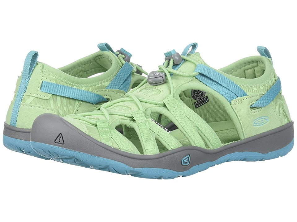 Keen Kids Moxie Sandal (Little Kid/Big Kid) (Quiet Green/Aqua Sea) Girl
