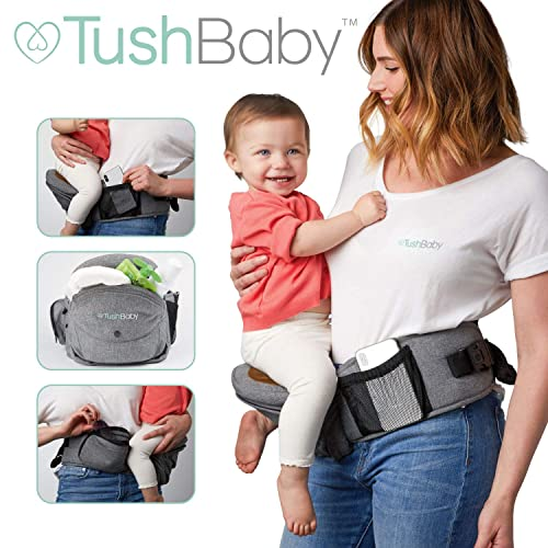 8472b1e233c TushBaby The Only Safety Certified Hip Seat Baby Carrier - As Seen On Shark  Tank-