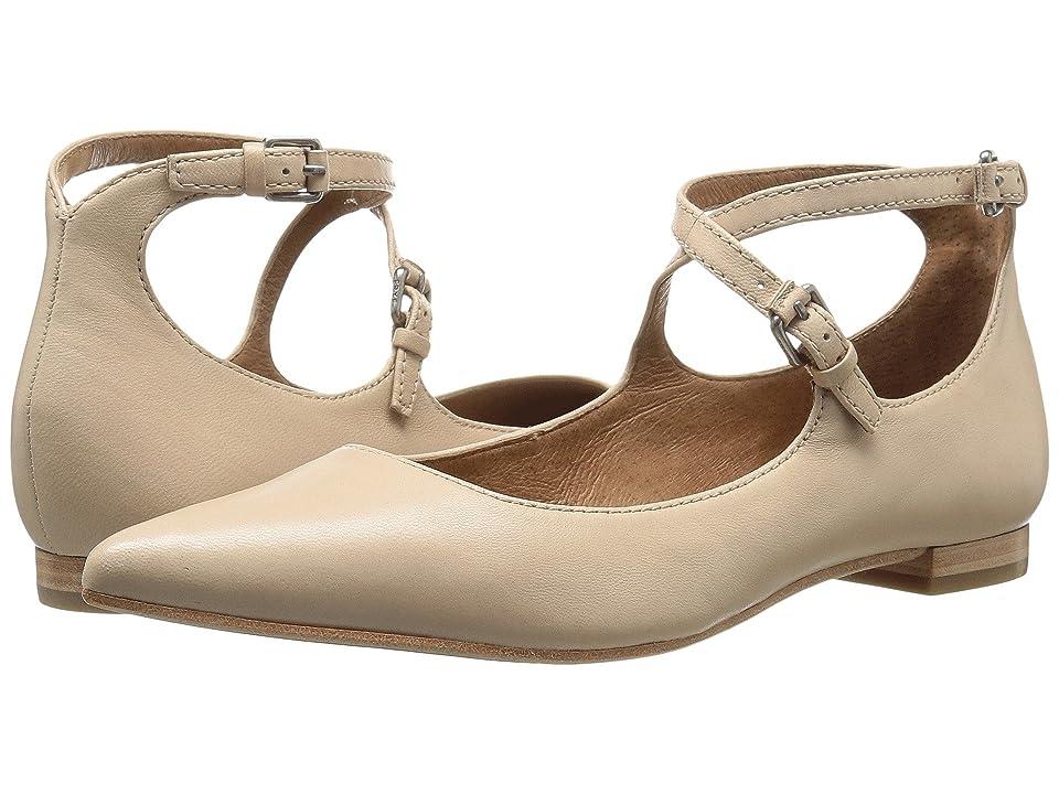 Frye Sienna Cross Ballet (Beige Soft Nappa Lamb) Women
