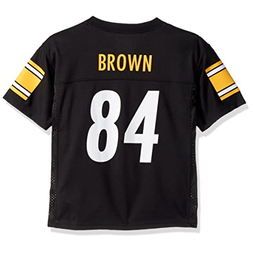 6069ee04 Outerstuff Antonio Brown Pittsburgh Steelers #84 NFL Youth Mid-tier Jersey  Black