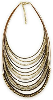 DCA Glass Brass and Necklace for Women's