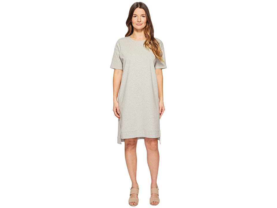 Eileen Fisher Heathered Organic Cotton Jersey A-line Dress (Dark Pearl) Women