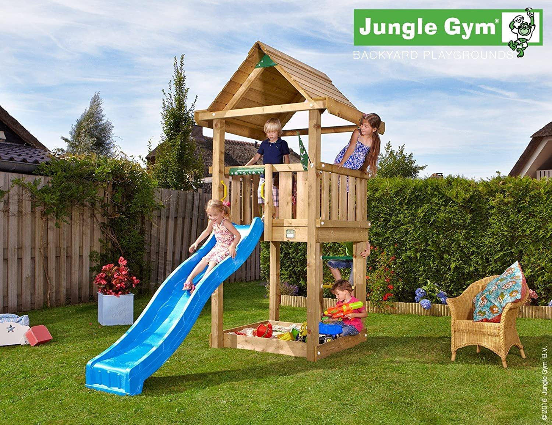 JUNGLE GYM Spielturm Jungle HOUSE mit Wellen-Rutsche, Komplettbausatz