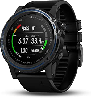 Garmin Descent Mk1, Watch-Sized Dive Computer with Surface GPS, Includes Fitness Features, Gray Sapphire with Black Band, 1.2