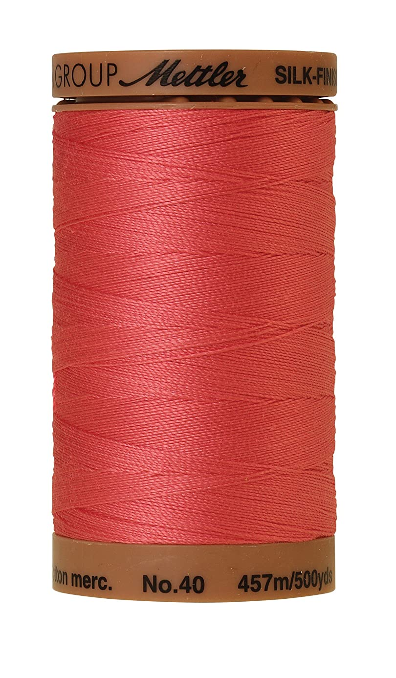 Mettler Silk-Finish Solid Cotton Thread, 500 yd/475m, Persimmon