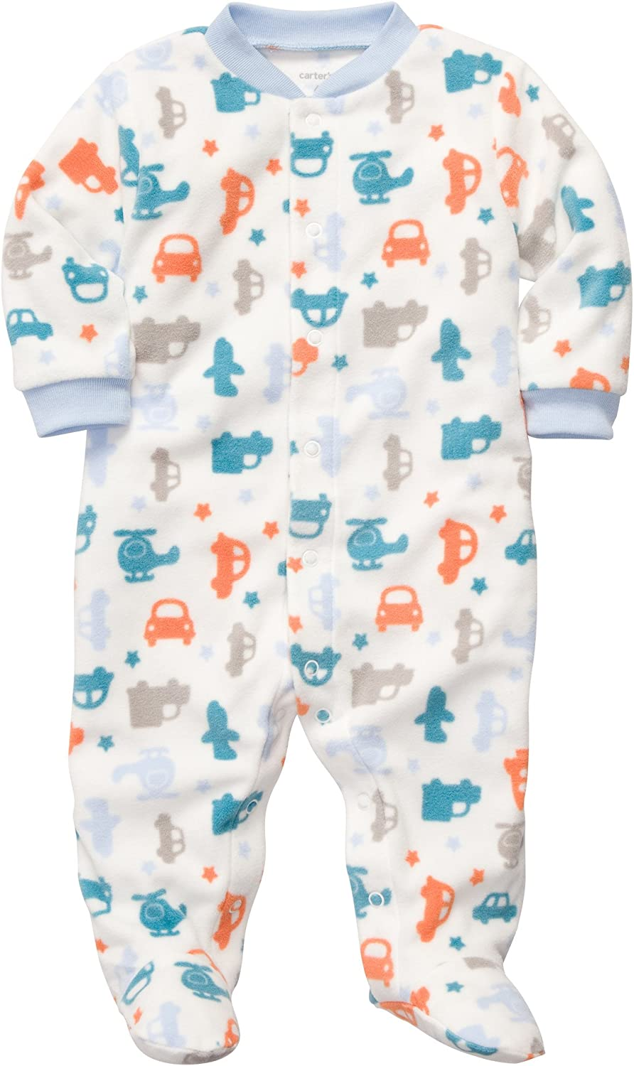 Carter's Baby Boys Micro Snap Transportation - Multi 6M Al sold Excellence out.