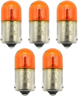 BSK 5Pcs 12V RY10W Orange Turn Signal Light Bulbs