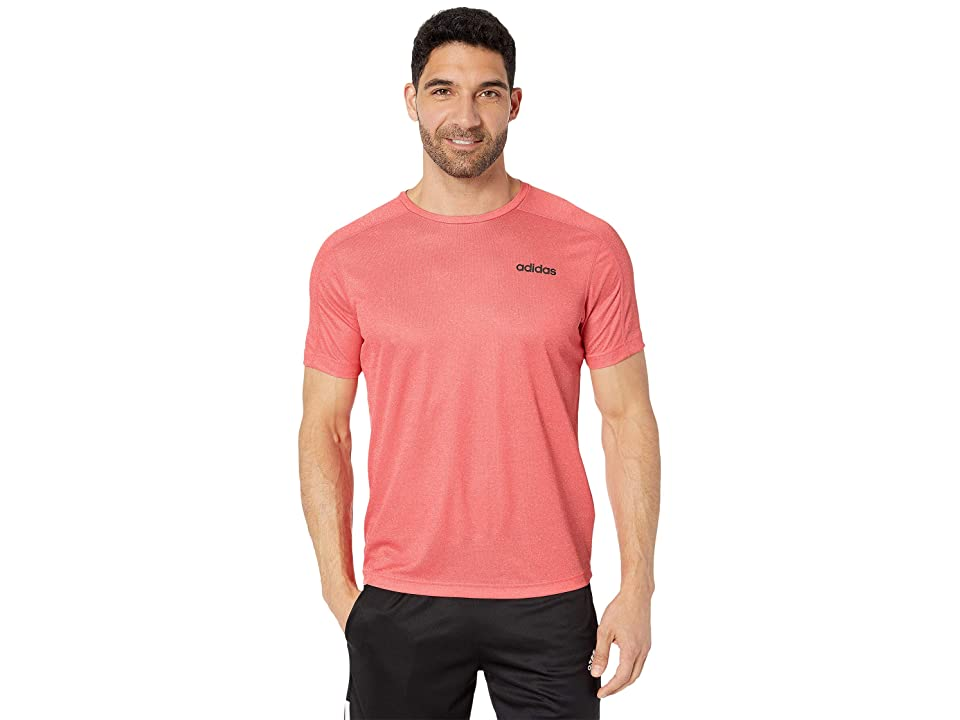 adidas Designed 2 Move Tee (Scarlet Heather) Men's T Shirt, Red