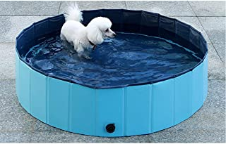 dreambuilderToy Foldable Dog Bath Swimming Pool Collapsible Pet Bathing Pool, Kid's Bath Tub Kiddie Swimming Pool for Small, Medium and Large Dogs, and Cats and Kids