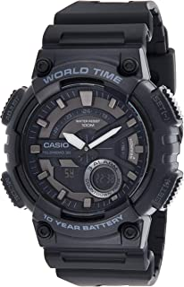 Casio Casual Watch Analog-Digital Display for Men AEQ-110W-1BVDF