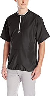 EASTON M5 CAGE Jacket | Short Sleeve | 2020 | Adult XLarge | Black | Lightweight, Mobility Breathable Design For Game Day | Practice |  Off Field Use | Baseball | Elastic Bound Hem + Neck + Cuffs