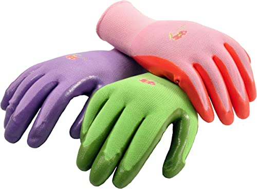 6 Pairs Women Gardening Gloves with Micro-Foam Coating - Garden Gloves Texture Grip - Working Gloves For Weeding, Dig...