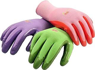 G & F 15226M دستکش های زمستانی برای زنان، دستکش کار با پوشش نیترول، رنگ های مختلف. متوسط زنان، 6 بسته جفت
