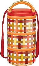 Milton Microwow Pro Plastic Tiffin Box Set, 240ml, Set of 3, Orange