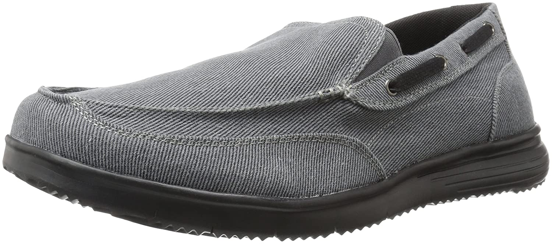 Propet Men's Sawyer Boating Shoe, Grey