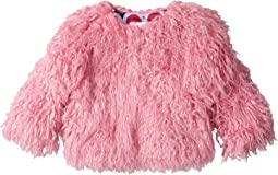 Hatley Kids - Pink Faux Mongolian Fur Coat (Toddler/Little Kids/Big Kids)