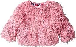 Pink Faux Mongolian Fur Coat (Toddler/Little Kids/Big Kids)