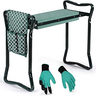 Garden Kneeler And Seat - Protects Your Knees Clothes From Dirt & Grass Stains - Foldable Stool For Ease Of Storage - EVA ...