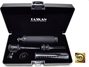 TAXXAN Veterinary Black Otoscope ENT Diagnostic Set with Metal Adapter to USE Standard Disposable Speculum …