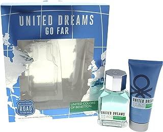 United Colors of Benetton Dreams Go Far 2 Piece Gift Set with Eau de Toilette and After Shave for Men