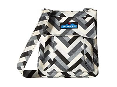 KAVU Mini Keeper (Stone Parquet) Cross Body Handbags