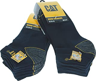 Caterpillar 6 Paires Chaussettes de travail basses sneaker pour hommes Prévention des accidents renforcées au talon et à l...