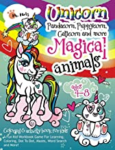 Unicorn, Pandacorn, Puppycorn, Caticorn and More Magical Animals: A Fun Kid Workbook Game For Learning, Coloring, Dot To Dot, Mazes, Word Search and More (Activity Coloring Book for Kids Ages 4-8)