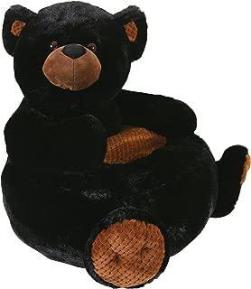 Stephan Baby Plush Nursery Decor Chair, Black Bear