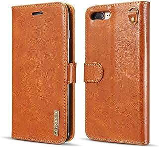 iPhone 7/8 Plus Case, Genuine Cowhide Leather Folio Flip Wallet Case Magnetic Detachable SlimCase Cover for iPhone 7 8 Plu...