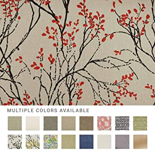 eLuxurySupply Fabric by The Yard - 100% Polyester Upholstery Sewing Fabrics with LiveSmart Technology - Myla Poppy Pattern