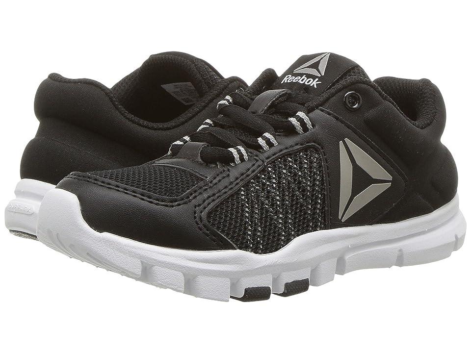 Reebok Kids Yourflex Train 9.0 (Little Kid/Big Kid) (Black/Skull Grey/White) Boys Shoes