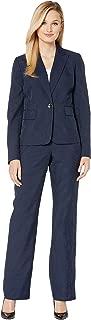 Le Suit Women's Pinstripe Two-Button Jacket Pants Suit
