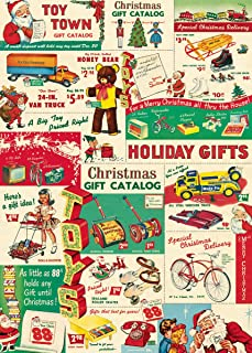 Cavallini & Co. Vintage Christmas Toys Decorative Decoupage Poster Wrapping Paper Sheet