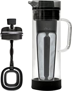 Primula Smokey Grey Cold Brew System 50 Ounce Pitcher with Cold Brew Core and Flavor Mixer