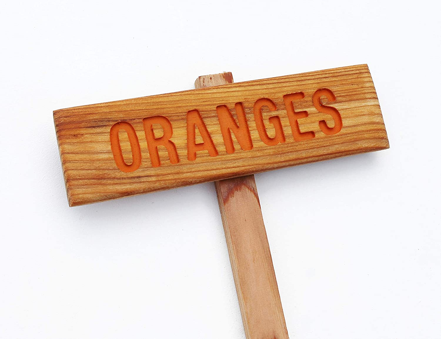 ORANGES New York Mall Tree Sign Hand Markers Virginia Beach Mall Garden Citrus Routed
