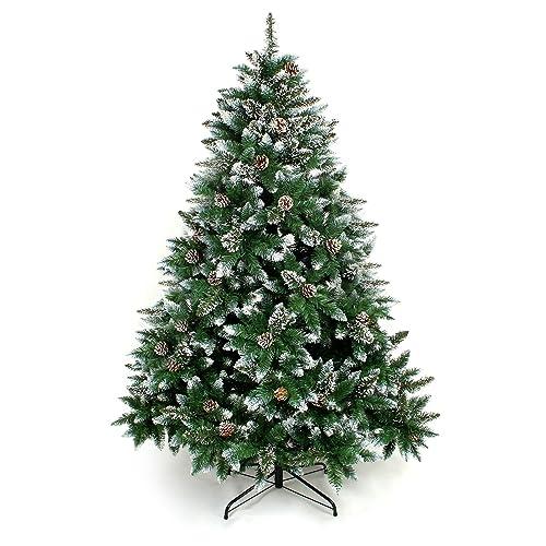 Yorbay Sapin de Noël avec support pour Noël Décoration (avec neige, 210cm)