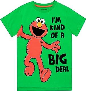Sesame Street Camiseta de Manga Corta para niños Barrio Sésamo Elmo