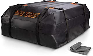 SANHIMA Car Roof Bag Cargo Carrier – 15 cu. ft. Waterproof Rooftop Bag, Travel..
