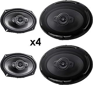 4 New Kenwood KFC-D691 6x9 1300 Watt 4-Way Car Audio Coaxial Speakers Stereo photo