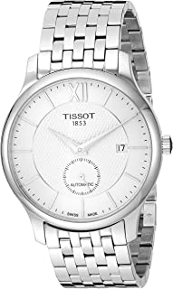 mens Tradition Stainless Steel Dress Watch Grey T0634281103800