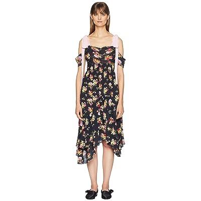 Preen by Thornton Bregazzi Dehebra Dress (Botanical Array Black Print) Women