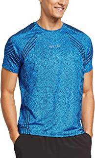 Men's Quick Dry Short Sleeve T-Shirt Sun Protection Running Workout Shirts