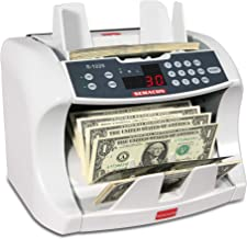 Semacon S-1225 High-Speed Bank Grade Currency Counter with Ultraviolet and Magnetic Counterfeit Detection, 800/1200/1600 Notes per Minute Counting Speed, Batching: 10 Keys/1-999 Range, 110V / 60Hz
