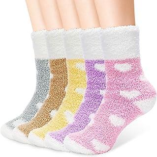 AUGOLA, Calcetines mullidos para mujeres y niñas – Calcetines suaves y acogedores para invierno espesan calcetines calientes para el hogar zapatilla de cama acogedora para mujer