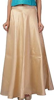 STUDIO Shringaar Women's Fully Stitched Golden Skirt Lehenga (Free Size)