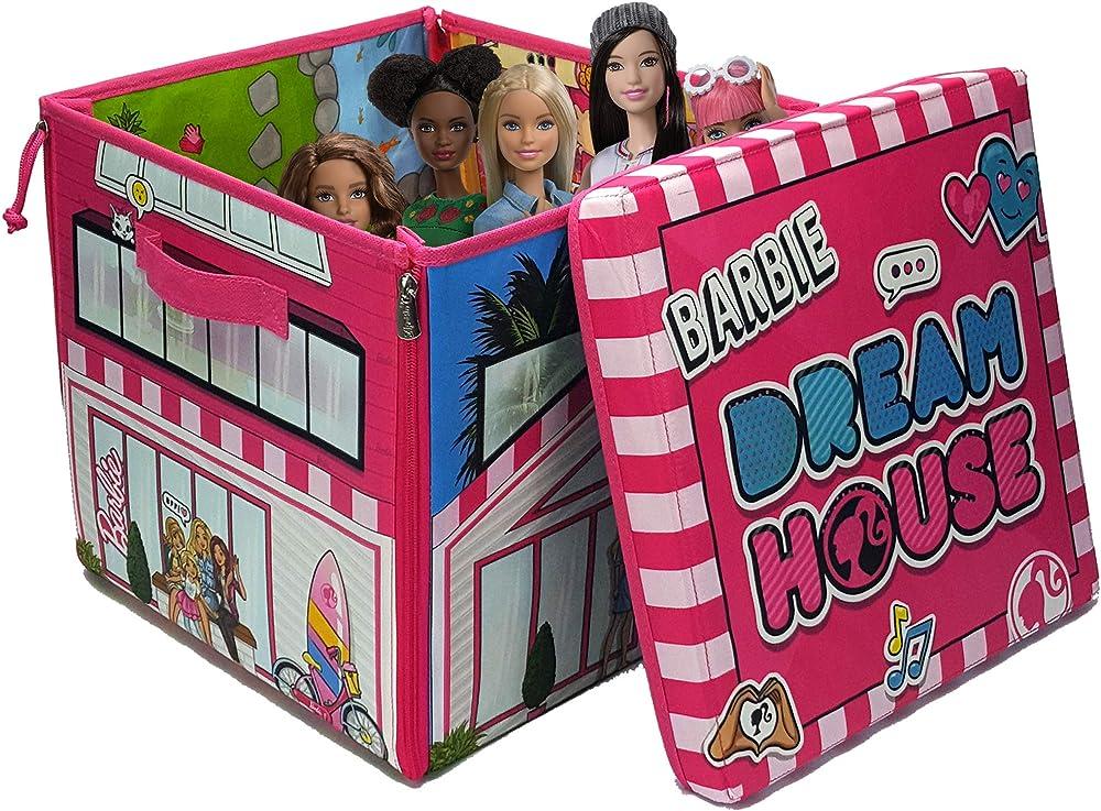 Mattel ,la casa dei sogni di barbie, scatola con cerniere, da trasformare in piano di gioco A1465XX