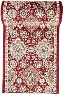 Collection de Carpeto R/ésistant /à Poil Court Tapis de Couloir Oriental Collection au Metre Beige Marron 60 x 50 cm /« Verona/» Persan Motif