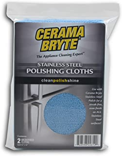 Cerama Bryte Stainless Steel Polishing Cloths (Pack of 2)