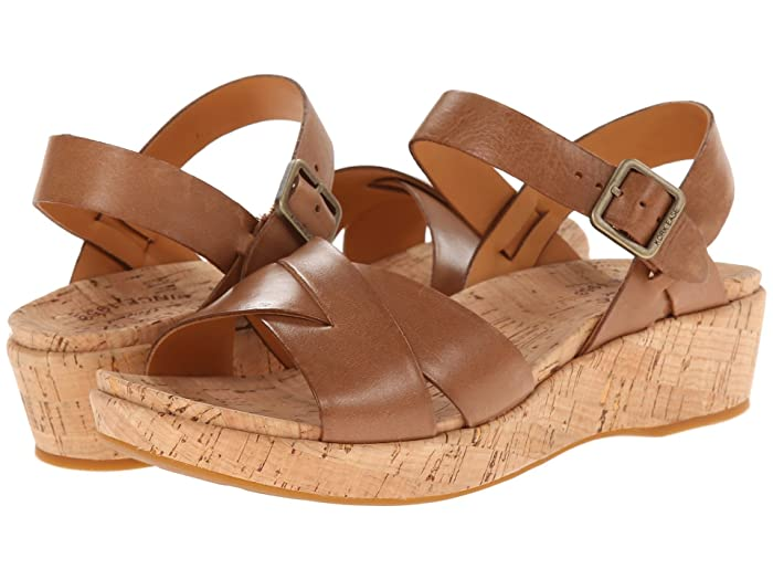 70s Shoes, Platforms, Boots, Heels Kork-Ease Myrna 2.0 Golden Sand FG Womens Wedge Shoes $139.95 AT vintagedancer.com
