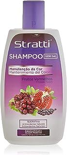 Stratti Frutos Rojos - Champú Color Intenso con Keratina sin Sal - 400 ml